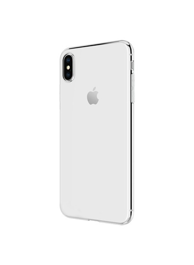 Microsonic iPhone XS (5.8'') Kılıf Transparent Soft  Beyaz